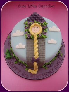 simple Rapunzel cake