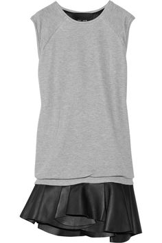Jay Ahr jersey/leather dress...the perfect mixed-media combo! #wishlist #CocktailCool