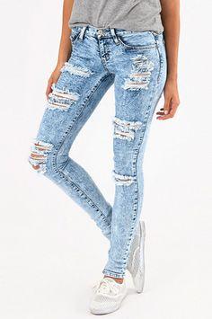 Flying Monkey Riptide Skinny Jeans $66 at www.tobi.com