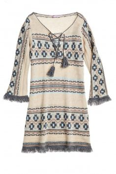 Ranu Intarsia Cashmere Sweater Tunic | Calypso St. Barth