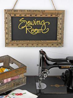 Online craft store  (Love this - Yardstick Chalkboard)