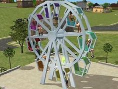 Mod The Sims - Testers wanted: functioning ferry wheel with 8 rideable slots; updated 09/21/2006