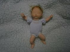 ooak hand sculpted polymer clay baby  fairy 48 inches mini
