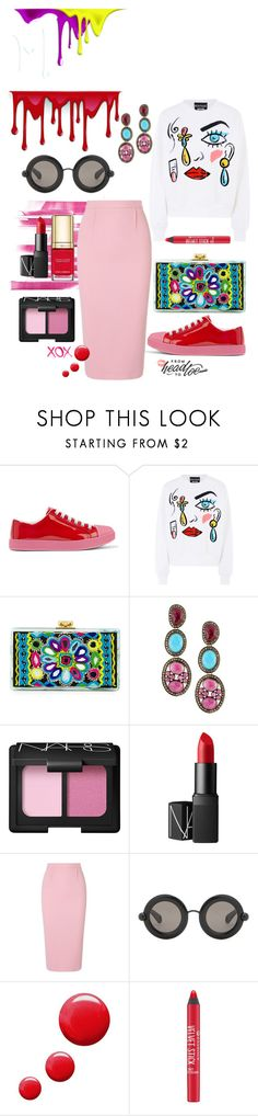 """""""city girl . . ."""" by molly-072 ❤ liked on Polyvore featuring Prada, Boutique Moschino, Edie Parker, Bavna, GALA, Yves Saint Laurent, NARS Cosmetics, Roland Mouret, Christopher Kane and Topshop"""