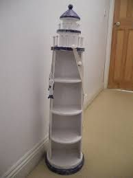 Wooden Lighthouse Shelf Ww Projects And Plans Pinterest White Oak Shelves And Nautical Design