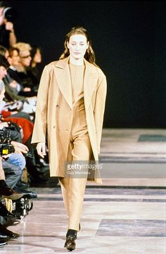 Model walks the Helmut Lang Fall 1989 RTW collection. (Photo by Guy Marineau/Condé Nast via Getty Images) Marie-Sophie Wilson