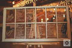 Antique Window Seating Chart on Rustic Floor Easel at the Hitch n Post Floor Easel, Antique Windows, Parquet Flooring, Seating Charts, Wedding Events, Weddings, Event Photos, Free Crochet, Free Pattern