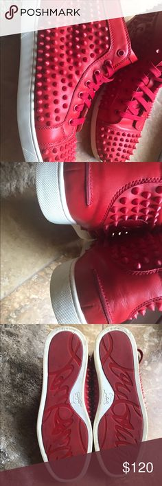 Red Bottoms Fashion Sneakers Red Bottom shoes size 10 Good shape. Shoes Sneakers