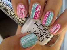 crackle nail polish is so fun. i can't wait to try this!  Like the colors!!!