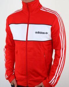 07451f18738b Adidas Originals Block Track Top Core Red