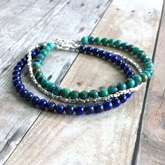 Genuine Turquoise Bracelet Sterling Silver Real Turquoise