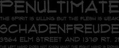 Flux Architect Font Phrases