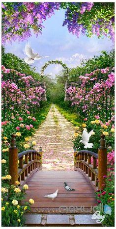 Wallpaper Nature Flowers, Beautiful Landscape Wallpaper, Beautiful Flowers Wallpapers, Scenery Wallpaper, Print Wallpaper, Beautiful Roses, Beautiful Landscapes, Beautiful Gardens, Gothic Wallpaper