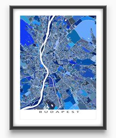 Paris map print featuring the beautiful and historic european city a maps as art design featuring a complex mosaic of city streets and thousands of tiny blue shapes malvernweather Image collections