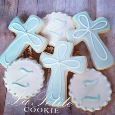 Christening / First Communion / Baptism Cross and Monogram