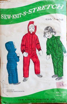 Vintage childrens pattern Sew Knit N Stretch by TarragonVintage