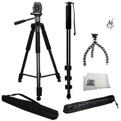Introducing 3 Piece Best Value Tripod Package For Sony Alpha DSLR SLTA33 A35 A37 A55 A57 A65 A77 A77II A99 A100 A200 A230 A290 A300 A330 A350 A380 A390 A450 A500 A560 A550 A700 A850 A900. Great product and follow us for more updates!