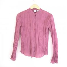 AX Armani Exchange Mauve Pink Crinkle Blouse Shirt Top Women's Size Small (S) $25