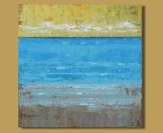 FREE SHIPPING abstract landscape painting by SageMountainStudio