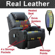 CINEMO 7 in 1 REAL LEATHER RECLINER CHAIR ROCKING MASSAGE SWIVEL HEATED GAMING NURSING CINEMA (Black) by More4Homes, http://www.amazon.co.uk/dp/B00E6ROPJU/ref=cm_sw_r_pi_dp_H0Misb08017Q6