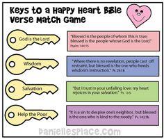 Keys Match Game from www.daniellesplace.com