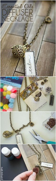 Easy to make and customize, this DIY essential oil diffuser necklace is the perfect gift to make for yourself or any loved one!