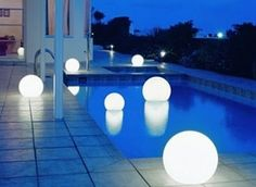 More giant glowing orbs.  Still my favorite.  I think a ball/balloon and a glow stick will take us a long way.
