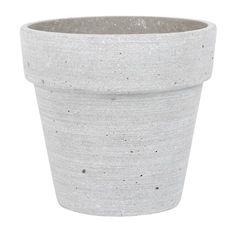 Kruka PLANTERA grå. 12x11 cm. Kruka i polystone. Finns i fler färger och storlekar.