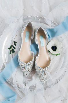 Wedding shoes ideas - close toe, fall, elegant, details, glam, silver, rhinestones, halls {Beth}