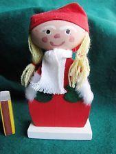 Vintage Swedish Wood Christmas Gift Doll Elf Gnome Santa Tomte Sweden Figure #2