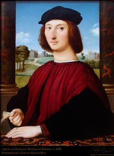 Raphael, Young Man in Red