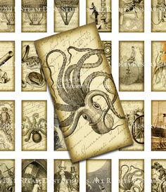 HardtoFind Victorian Steampunk Images  Kraken, Airships, etc. by steamduststudios