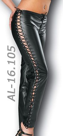"""""""Buy Sexy Lace-up Leather Pants amp; Vinyl Lace Up Pants at Leathers Shop! Sexy Lace-up Leather Pants for Women Details: Lace-up leather pants with lace-up sides and front zipper opening http://www.leathersshop.net/products/Sexy-Lace%252dup-Leather-Pants.html"""