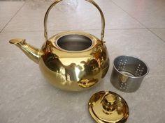 Stainless steel golden kettle Size:14cm, 16cm, 18cm, 20cm