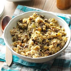 Wild Rice Stuffing Recipe -Since trying this stuffing recipe from my sister, I haven't made any other kind. It's so moist and tasty. When a big bowlful starts circulating around the table, happy holiday smiles get even bigger! -Connie Olson, Green River, Wyoming