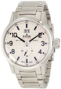 Edox Men's 64009 3 AIN WRC Rally Timer White Dial Watch Edox. $411.25. Polished and brushed stainless steel case and bracelet. Dust resistant. Water-resistant to 330 feet (100 M). Rally timer. Big date. Fine textured dial
