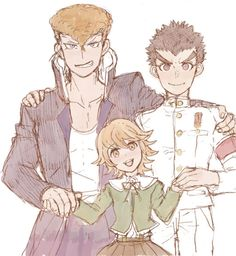 mondo and chihiro Danganronpa Chihiro, Danganronpa Memes, Danganronpa Characters, Ishimaru Kiyotaka, Good Cartoons, Spike Chunsoft, Danganronpa Trigger Happy Havoc, Ship Art, Anime Ships