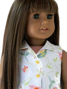 American Girl Doll Clothes Denim Shorts and Cotton by 18Boutique