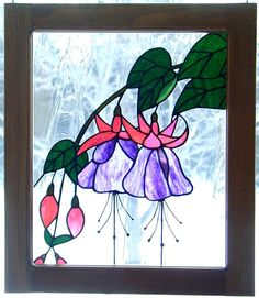 Lovely Fuchsia in Stained Glass