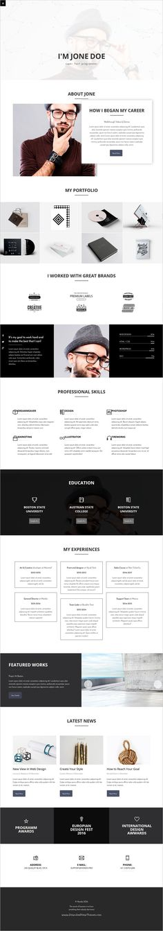 Free Resume Websites 15 Best HTML5 VCard And Templates For Your