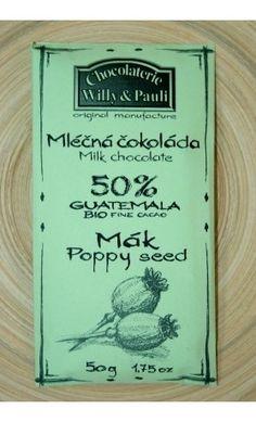 BIO Mléčná čokoláda Guatemala s mákem 50%. Využijte naší dopravy zdarma při nákupu  nad 890 Kč nebo výdejního místa v Praze zdarma. Poppies, Books, Libros, Book, Book Illustrations, Poppy, Poppy Flowers, Libri