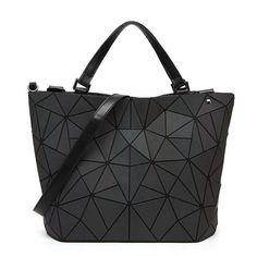 bc04598222659 2018 Japan Luminous Geometric Women's Handbags Women Bucket Shoulder  Messenger Bags Folding Handbag Female Tote Sac