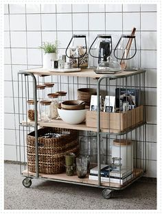 Clever Open Kitchen Storage Ideas Design your small kitchen with smart and stylish decorating ideas from using pegboards for storage to repurposing ladders to hold pots and pans, and more! Apartment Kitchen Organization, Kitchen Storage, Kitchen Styling, Organization Hacks, Dish Storage, Kitchen Rack, Extra Storage, Kitchen Interior, Kitchen Design