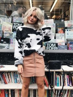 Yes to super soft cow print jumpers!