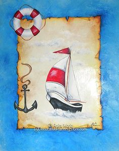 Gone Sailing Pattern by Anita Morin  available at... http://www.decorativepaintingstore.com/proddetail.php?prod=AM028format=29