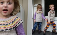 Fun-kit - top-down circular yoke. Free size 7-8 y pattern, other sizes for purchase