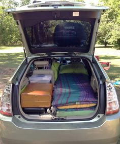 Four Can Sleep Comfortably in this Toyota Prius RV | Vehicle camping | Toyota prius, Toyota ...