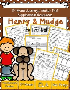 This packet has everything you'll need to enhance your instruction for Henry and Mudge: The First Book with NO PREP(2nd Grade Journeys Reading Series Unit 1, Lesson 1). These resources meet Common Core State Standards and keep students engaged and having fun!