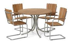Produktbild - Mölle, Trädgårdsgrupp med 4 stolar
