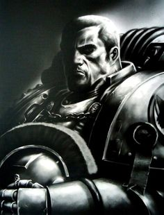 Garviel Loken.. Captain of X company, Luna Wolves Legion  Easily one of the best characters of the Horus Heresy.